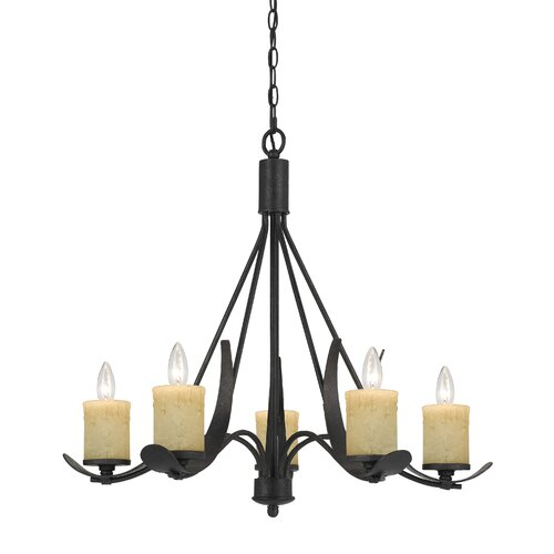 Morelis 5 Light Candle Chandelier