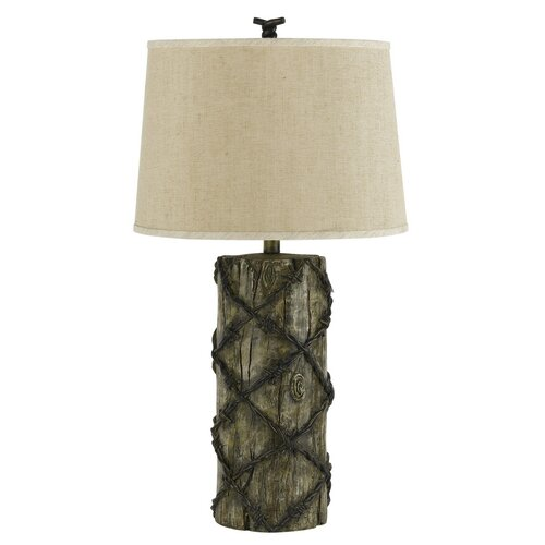 """Cal Lighting Barbwire 30"""" H Table Lamp with Empire Shade"""