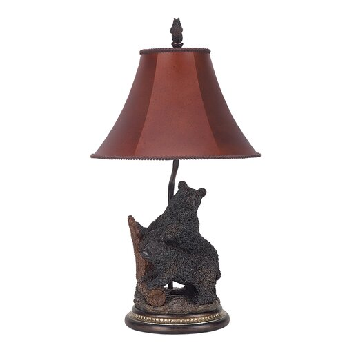 "Cal Lighting Bear 29"" H Table Lamp with Bell Shade"