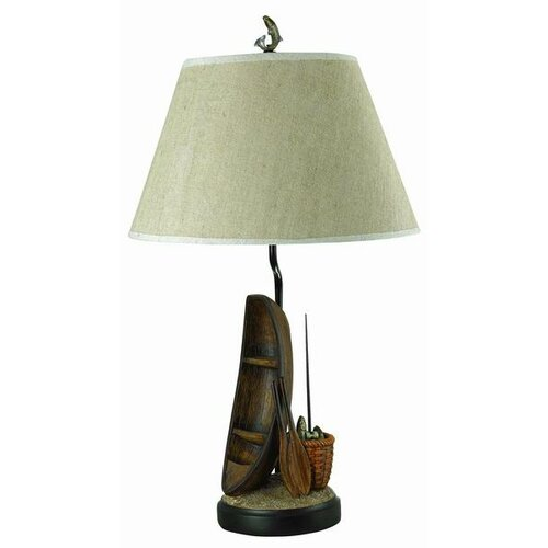 "Cal Lighting Rowing Boat 30.5"" H Table Lamp with Empire Shade"