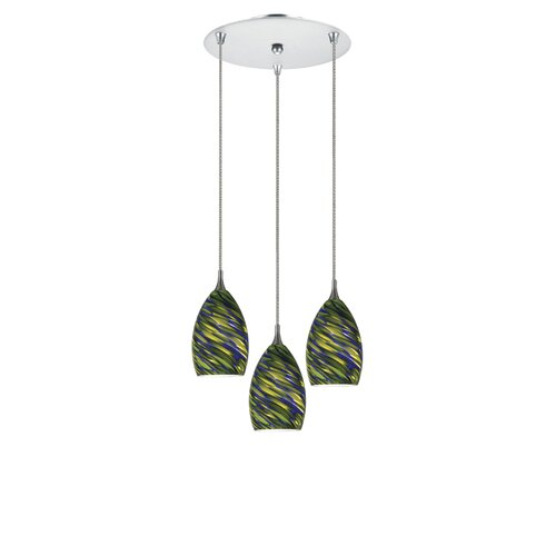 Cal Lighting Line Voltage 3 Light Pendant