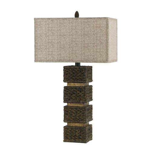 "Cal Lighting Rattan 32"" H Table Lamp"