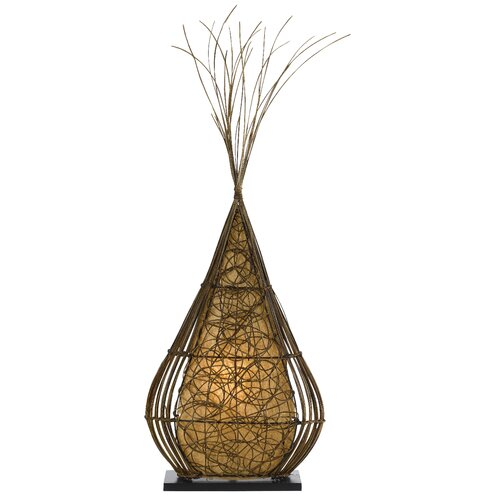 Cal Lighting Rattan Casual Floor Lamp