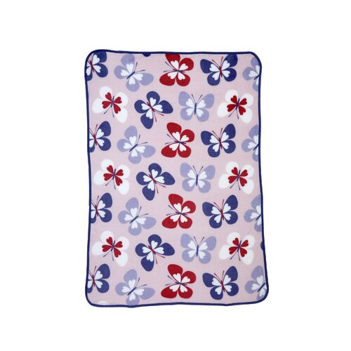 Butterfly Toddler Printed Coral Fleece Toddler Blanket