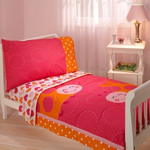 Lady Bug 4 Piece Toddler Bedding Set