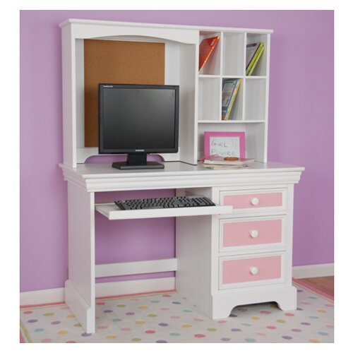 "Comfort Decor Color Box Computer 29"" H x 44.25"" Desk Hutch"