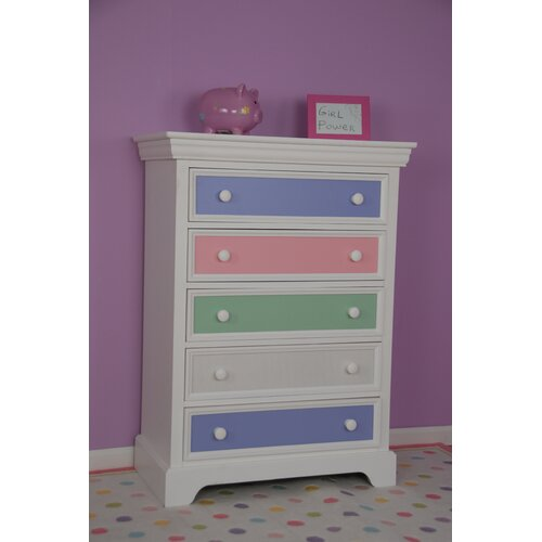 Comfort Decor Color Box 5 Drawer Chest