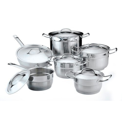 BergHOFF International Hotel Line Stainless Steel 12-Piece Cookware Set