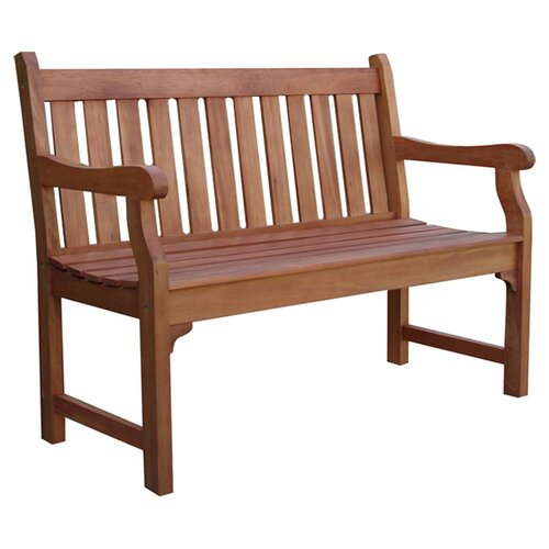 Outdoor Patio Hard Wood Garden Bench All Weather Furniture Loveseat Yard Porch Ebay