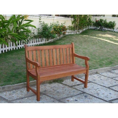 Vifah Outdoor Furniture Wood Garden Bench & Reviews