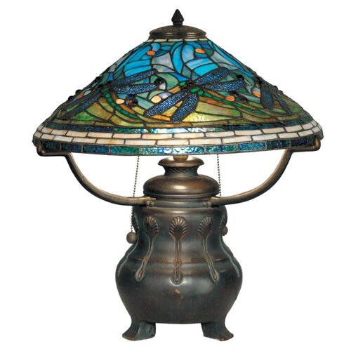"Dale Tiffany 21.75"" H 3 Light Table Lamp"
