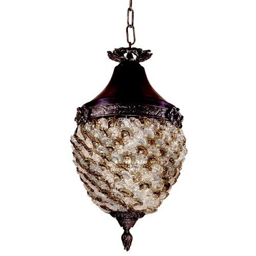 Glass Flower Hanging 1 Light Mini Pendant
