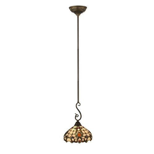 Jeweled Turtleback 1 Light Mini Pendant