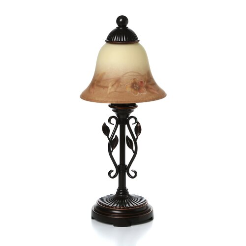 """Dale Tiffany Leaf Vine 16.75"""" H Table Lamp with Bell Shade"""
