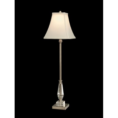 """Dale Tiffany Buffet Sieve 30.5"""" H Table Lamp with Square Shade"""