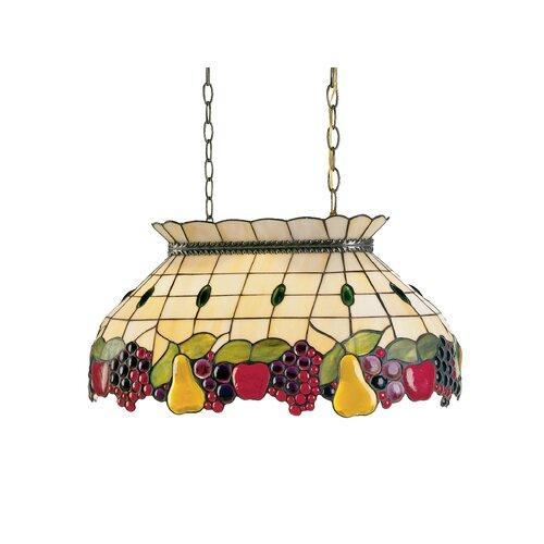Dale Tiffany Fruit Pool Table 2 Light Pendant
