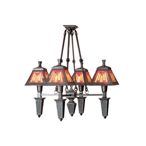 Dale Tiffany Sunset Mission 4 Light Chandelier