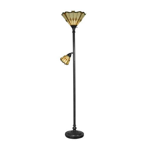 dale tiffany 1 light torchiere with side floor lamp reviews. Black Bedroom Furniture Sets. Home Design Ideas