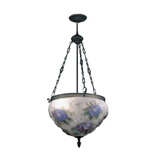Hydrangea Pairpoint 3 Light Foyer Inverted Pendant