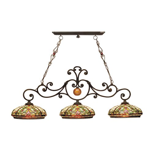 Dale Tiffany Boehme 3 Light Kitchen Island Pendant