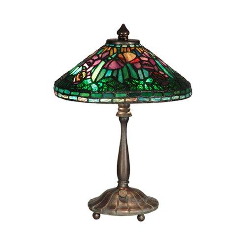 "Dale Tiffany Poppy Shade 14"" H Table Lamp with Empire Shade"