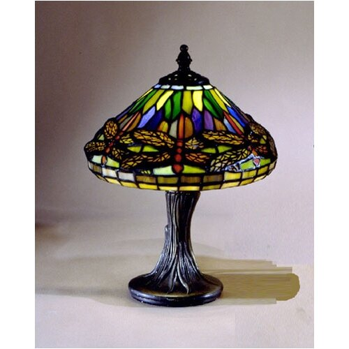 dale tiffany miniature dragonfly 11 h table lamp with empire shade. Black Bedroom Furniture Sets. Home Design Ideas