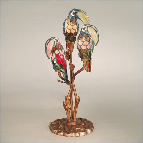 "Dale Tiffany Port Douglas Parrot 23.5"" H Table Lamp"
