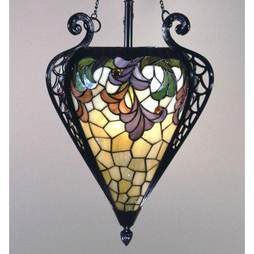Dale Tiffany Geometric 1 Light Inverted Pendant