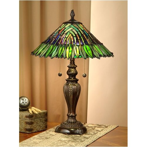 Dale Tiffany Floral Leavesley  Table Lamp
