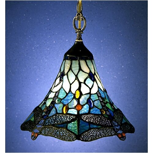 Nature Series Dragonfly 1 Light Mini Pendant