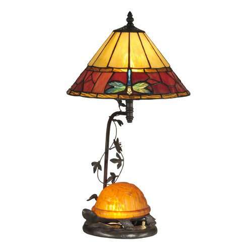 "Dale Tiffany 31.75"" H Turtle 2 Light Table Lamp"