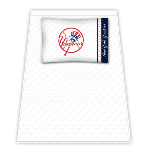 MLB New York Yankees Micro Fiber Top Hat Sheet Set