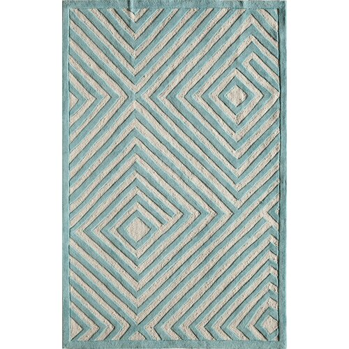 Gramercy Light Blue Maze Rug