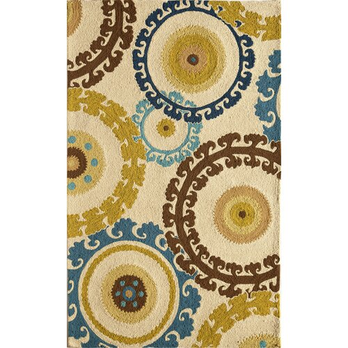 Lenai Ivory/Light Blue Coastal Sun Rug