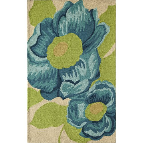 Lenai Light Blue/Green Camellia Rug