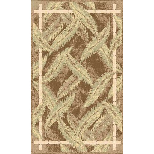 Tropics Ivory/Green Sunset Bay Rug
