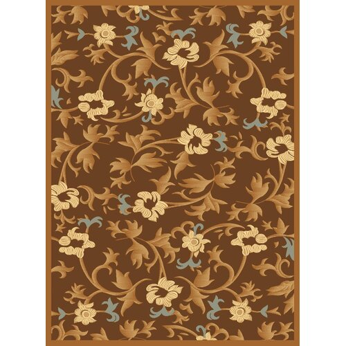 Rugs America Torino Brown Bouquet Rug