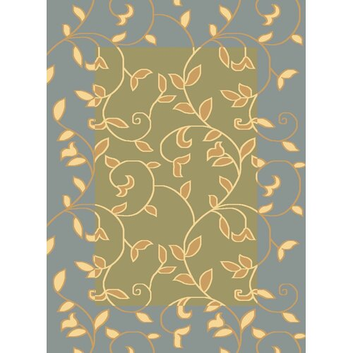 Rugs America Torino Light Green Vineyard Rug