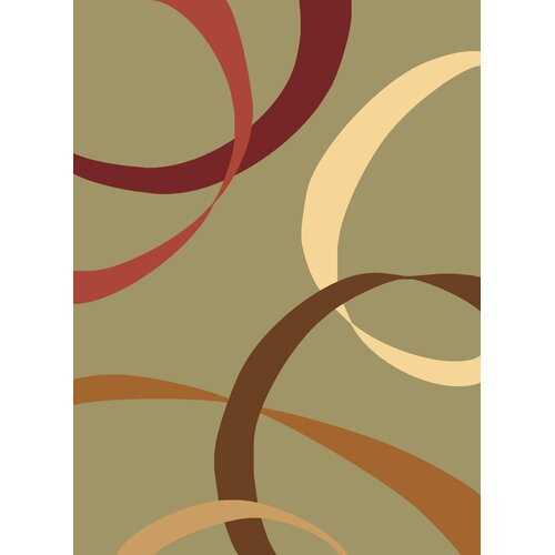 Torino Light Green Ribbons Rug