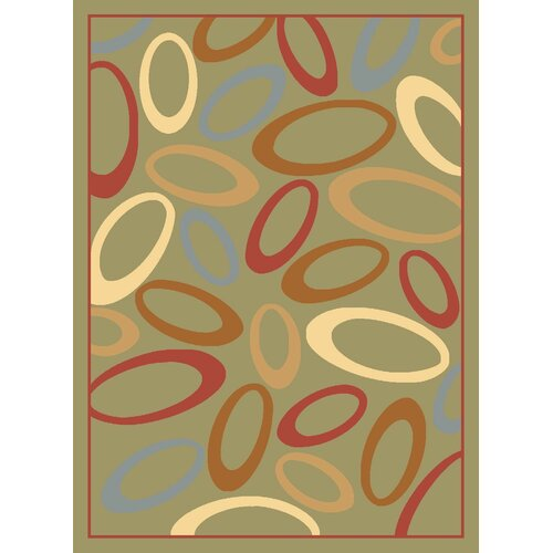 Rugs America Torino Light Green Circles Rug