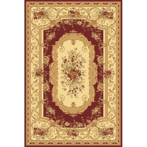 Rugs America Sorrento Red Aubusson Rug
