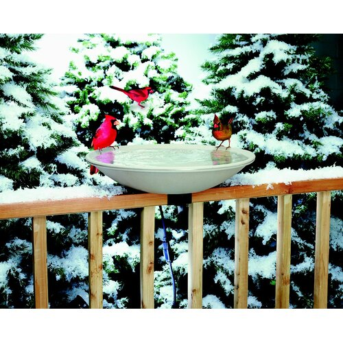 Allied Precision Industries Deck Mount Heated Bird Bath