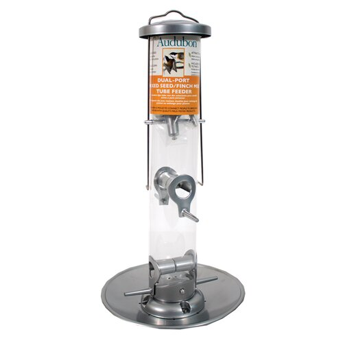 Audubon Dual-Port Mixed Seed Finch Tube Bird Feeder