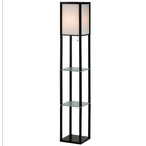 Adesso Berk Glass Shelves Floor Lamp
