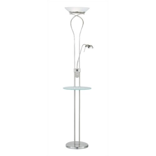 Adesso Concierge Torchiere Floor Lamp with Reading Light
