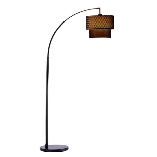 Adesso gala 1 light arched floor lamp reviews wayfair for Wayfair adesso floor lamp
