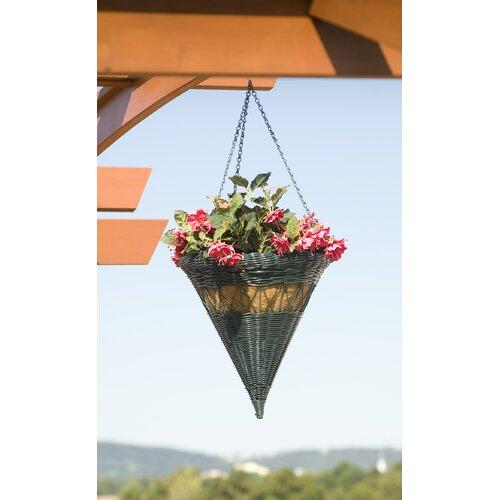 Resin Wicker Cone Hanging Basket