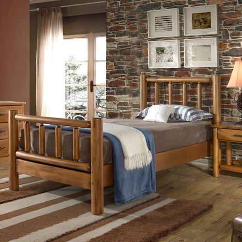 Grain Wood Furniture Timber Creek Twin Log Bed