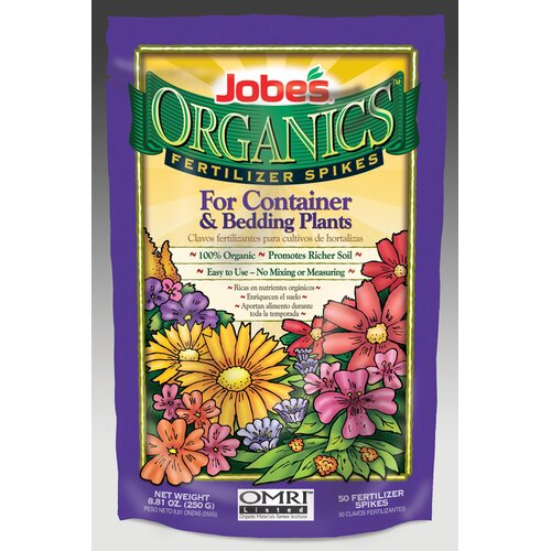 Easy Gardener Weatherly Organics Container and Bedding Fertilizer Spikes