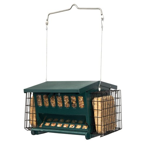 Mini Seeds-N-More Suet Cake Hopper Bird Feeder